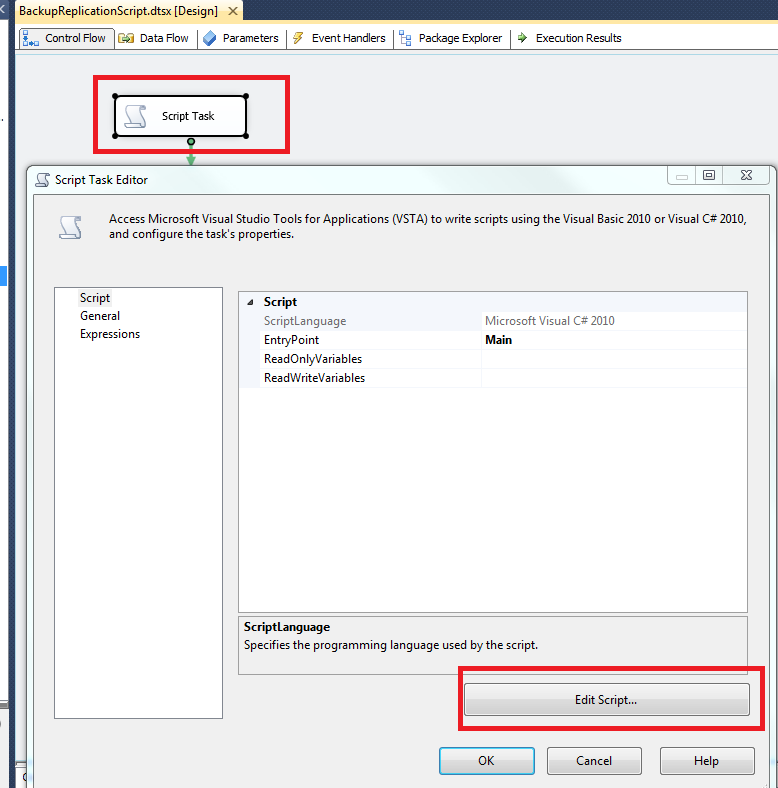 Script backup of replication setup of SQL Server by SSIS and SMO